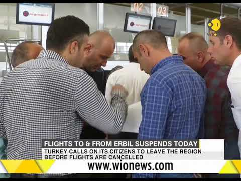 Flights to and from Kurdish capital Erbil suspend from today