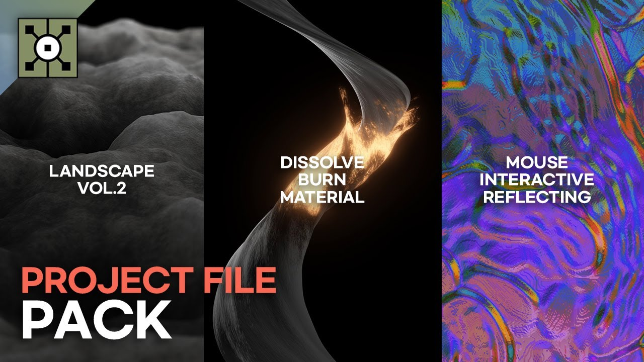 Touchdesigner Project File Pack Vol.1 Free download