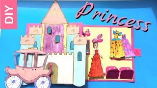 PRINCESS CASTLE DOLLHOUSE FOR PAPER DOLLS QUIET BOOK FOR GIRLS