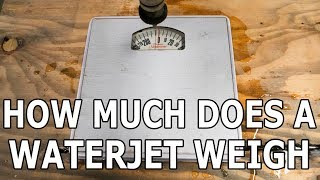 How much does High Pressure Water Weigh? Bathroom Scale Cut in Half