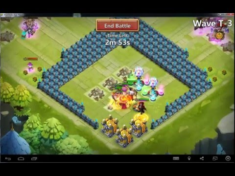 Castle Clash HBM T Win With No Molt: USED: PD, Vlad, Druid, Cupid, SB, SK