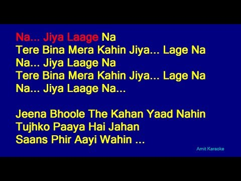 Na Jiya Laage Na - Lata Mangeshkar Hindi Full Karaoke with Lyrics