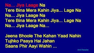 Na Jiya Laage Na - Lata Mangeshkar Hindi Full Karaoke with Lyrics