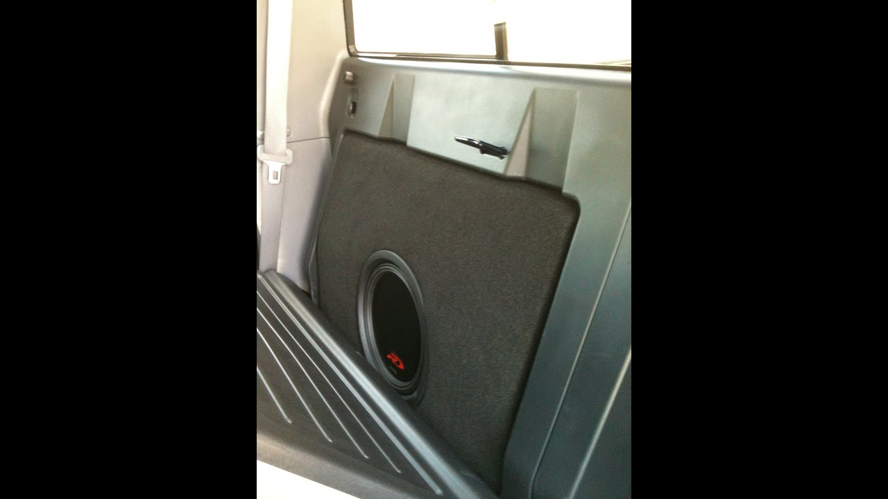 2013 toyota tacoma with custom subwoofer enclosure youtube. Black Bedroom Furniture Sets. Home Design Ideas