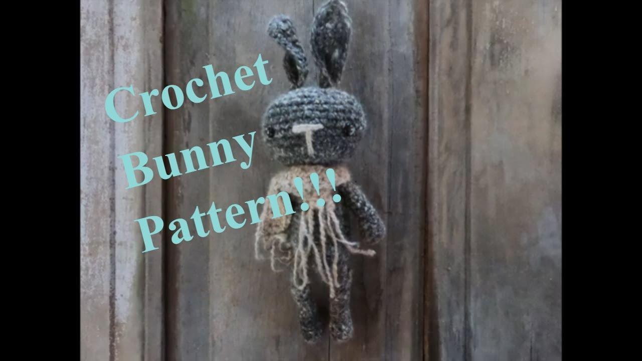 Coal Bunny Crochet Pattern!