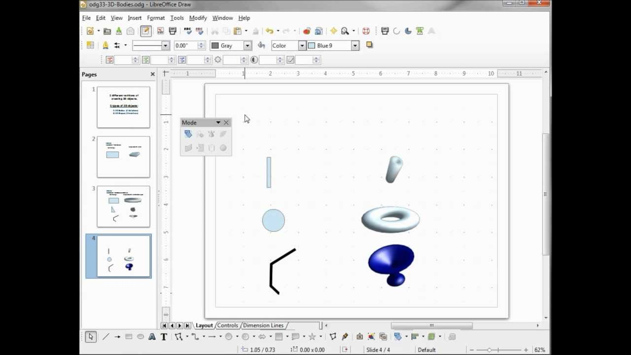 Libreoffice Draw 33 3d Bodies Youtube