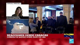 Informe desde Caracas: Esto dijo el Gobierno de Nicolás Maduro sobre la reunión del Grupo de Lima
