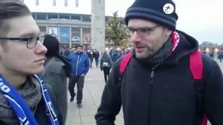 Hertha BSC 2-1 FC Köln: Hertha-Fan verliert Wette und muss einen Kölner umarmen!