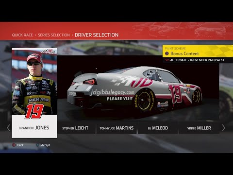 NASCAR Heat 4 - Brandon Jones @ Kansas (JD Gibbs Tribute) |