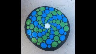 How to Paint Dot Mandalas Tutorial #6 Pinwheel Spiral Pattern Part 1