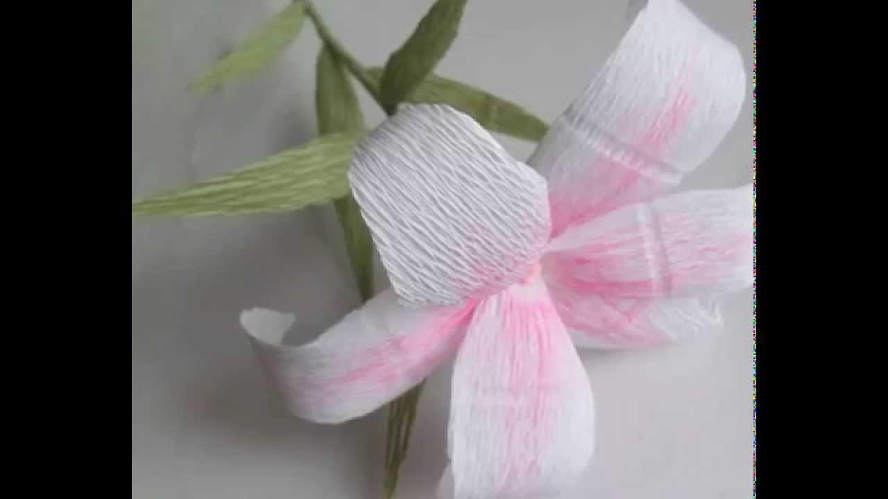 Лилии цветы из бумаги гофрированной своими руками