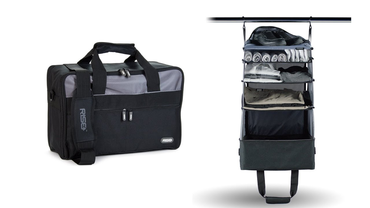 Jumper Carry On Bag With Collapsible Shelves Grey