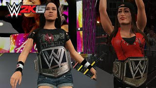 Every Diva as the WWE World Heavyweight Champion - WWE 2K15 PC Mod