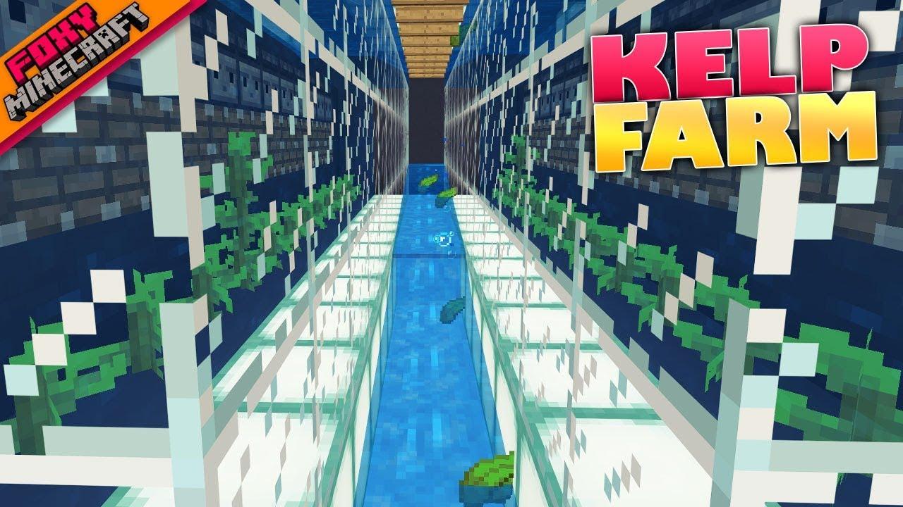 Minecraft AUTO KELP FARM SMELTER Bedrock Survival