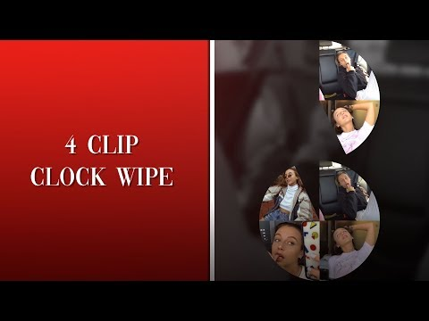 4 clip clock wipe | after effects tutorial thumbnail