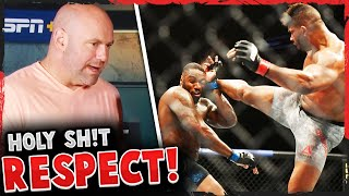 Reactions to the TKO in Walt Harris vs Alistair Overeem UFC Florida, Jon Jones VS Francis Ngannou