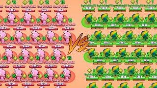 LEON VS SPIKE :: NOOB CAPTAIN VS PRO PLAYER 1 V 1 | Brawl Stars Gameplay