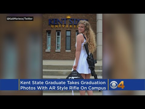 'Come and take it': Kent State grad poses with AR-10 on campus