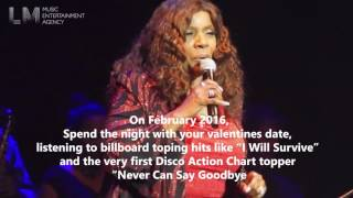 Gloria Gaynor Never Can Say Goodbye World Tour 2016