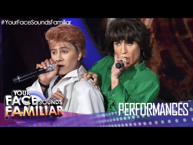 Your Face Sounds Familiar: Kean Cipriano and Tutti Caringal as David Bowie and Mick Jagger