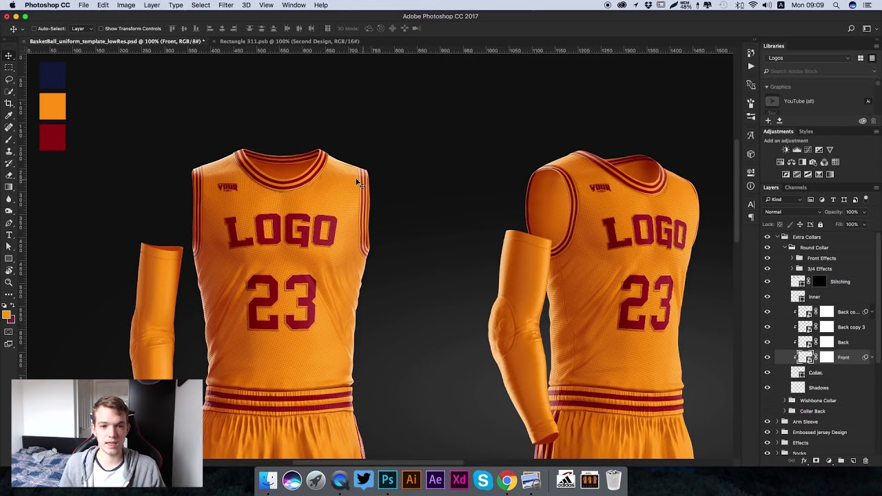 8c5b7d26eac3 Design the Basketball Uniform of NBA Cleveland Cavaliers Using PSD Template