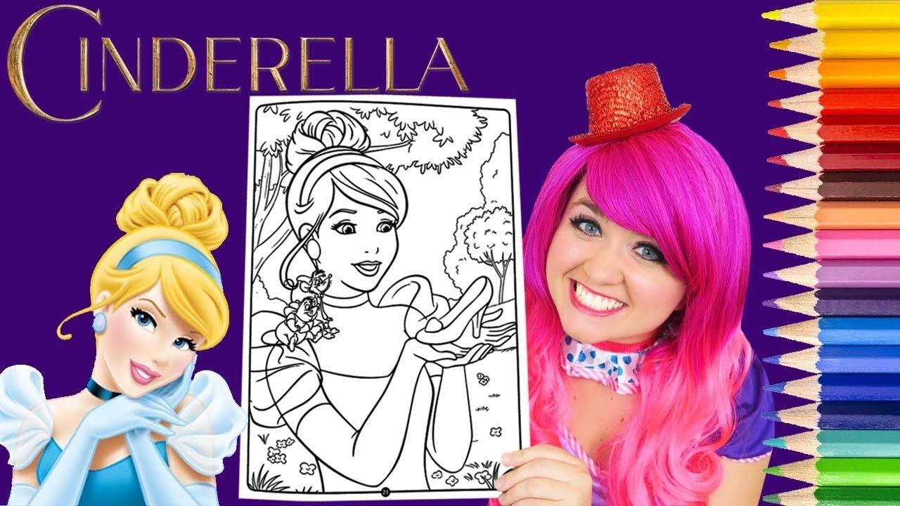 Coloring Cinderella Disney Princess Coloring Book Page Prismacolor