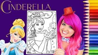 Coloring Cinderella Disney Princess Coloring Book Page Prismacolor Colored Pencil | KiMMi THE CLOWN