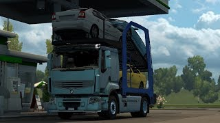 [1.30] Euro Truck Simulator 2 | Renault Premium Car Transporter | Mods