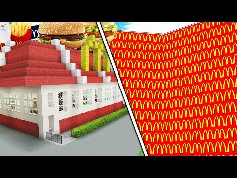 MINECRAFT MCDONALDS LUCKY BLOCK WALLS - Modded Minecraft Minigame