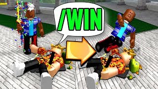 USING ADMINS COMMANDS TO WIN in MM2!! (Roblox)