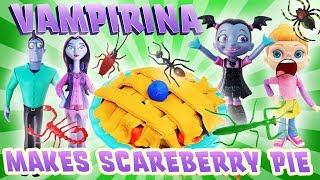 Vampirina Cooks Scareberry Pie in a Microwave with Bridget! Learn Colors w/ Oxana, Boris & Play-Doh!