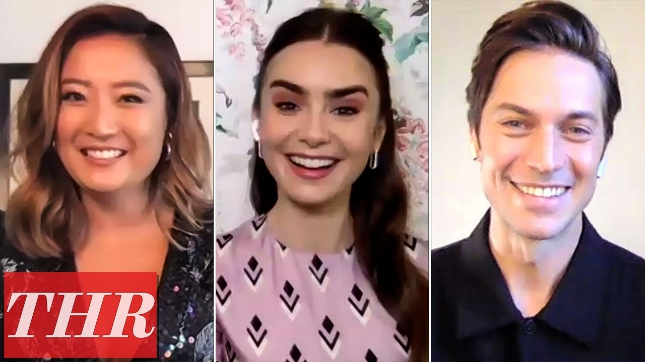 Lily Collins, Netflix's Emily in Paris Cast Talk Fashion, Love Story, Paris Backdrop | THR Interview