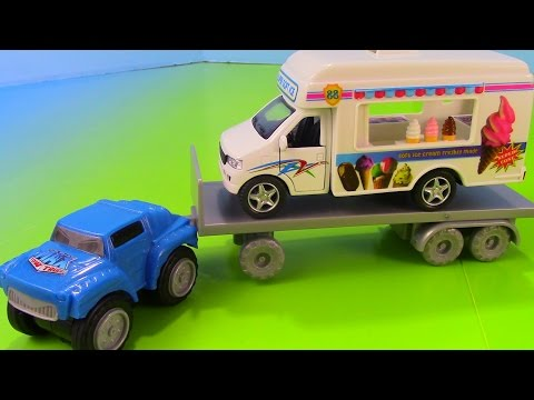 Max Mighty Hauler Tow Truck Tows an Ice Cream Truck
