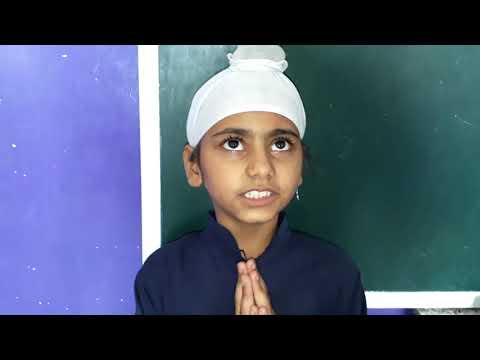 Charity brings prosperity! Liza of Akal Academy Ganga nagar reciting a Punjabi poem