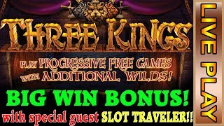 SLOT TRAVELING on IGT with THREE KINGS & THE SWORDSMAN - special guest SLOT TRAVELER!!