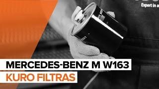 Vaizdo įrašų instrukcijos jūsų MERCEDES-BENZ ML Klasė
