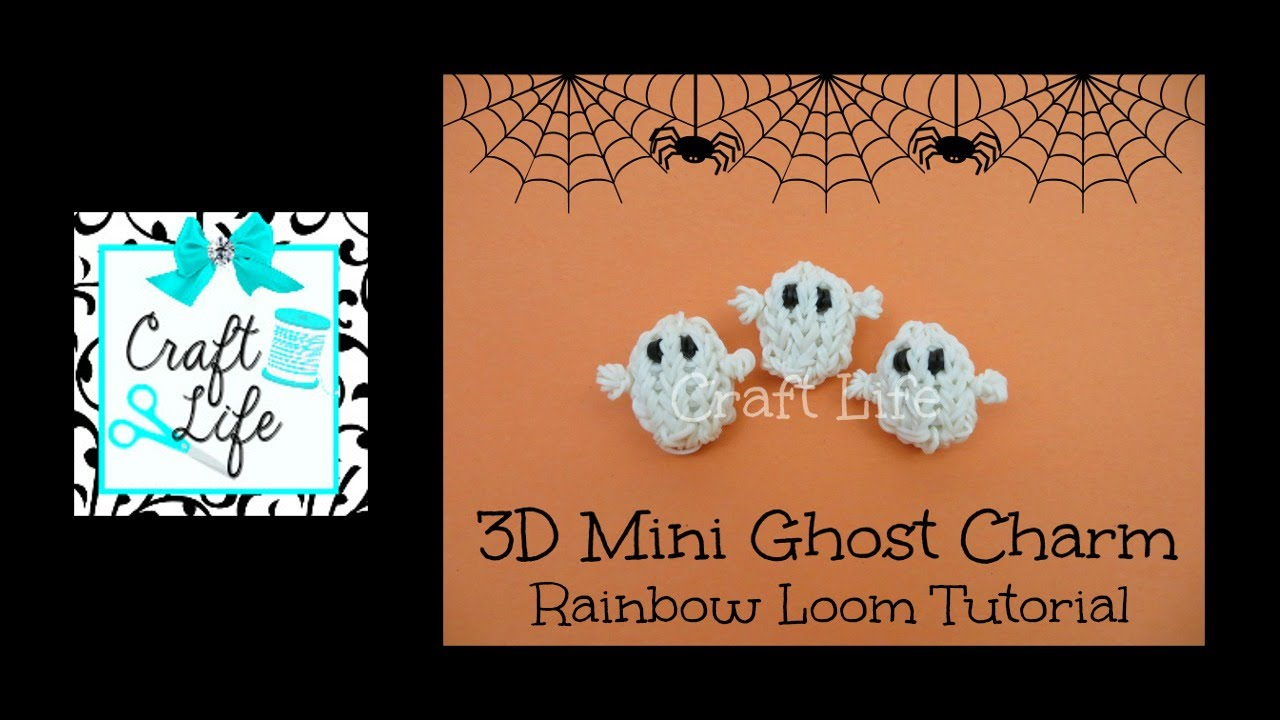 Craft Life 3D Mini Halloween Ghost Charm Tutorial on One ... Rainbow Loom Mini Purse Craft Life