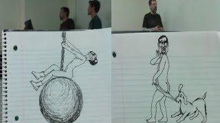 Cười Té Ghế Với Loạt Tranh Vẽ Thầy Giáo Của Cậu Học Trò Siêu Lầy