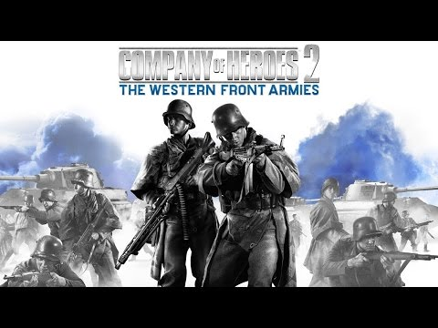 Company of heroes 2 USA troops gameplay 2v2 /w commentary