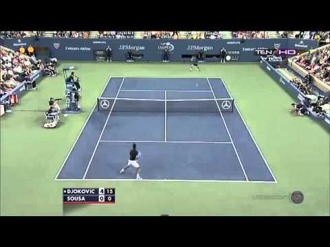 Novak Djokovic vs Joao Sousa  Full Highlights US OPEN 2013 R3