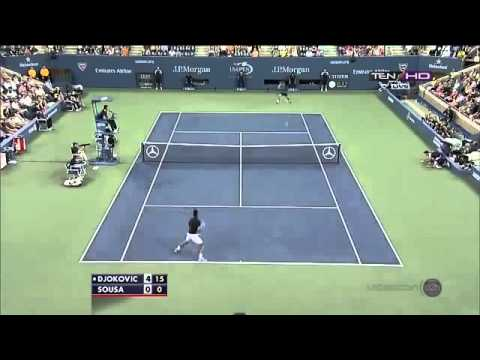 Novak Djokovic vs Joao Sousa  Full Highlights US OPEN 2013 R3