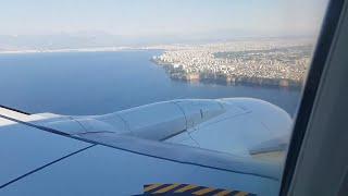 Approaching Antalya   Flight Arrival   Landing in Turkey