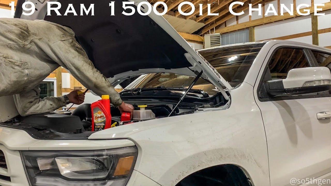 2019 2020 Dodge Ram 1500 5th Gen Oil Change Process Youtube