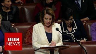 Nancy Pelosi breaks record in eight-hour speech - BBC News