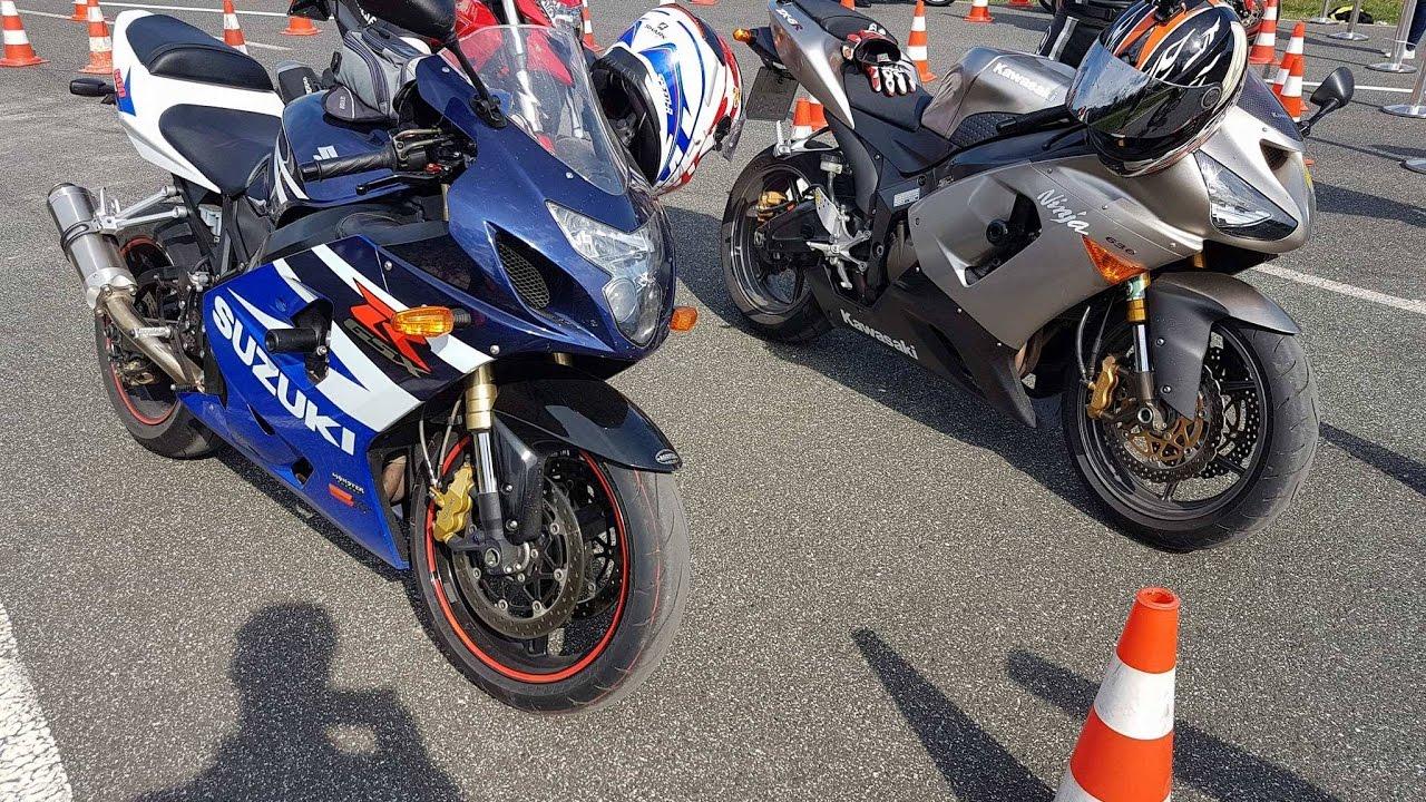 Kawasaki 636 2005 35kw Vs Suzuki Gsxr 600 K5 35kw 2nd Gear 20