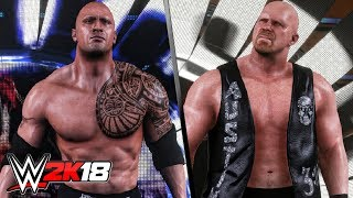 WWE 2K18 - The Rock & Stone Cold Steve Austin Entrances!