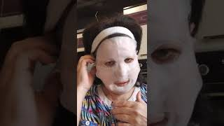 тестируем обновляющую маску для лица из биоцеллюлозы с ниацинамидом и экстрактом центелллы NovAge