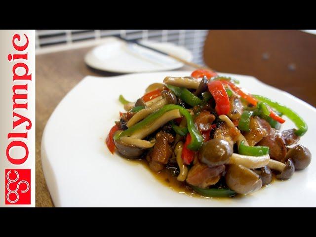 オリンピックの超簡単レシピ やきとり缶の野菜炒めの作り方