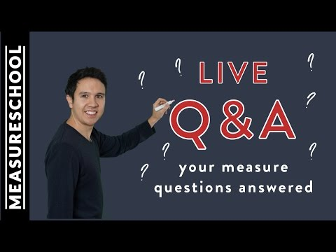 Your Measure Questions Answered - Measureschool Live Q&A - 동영상