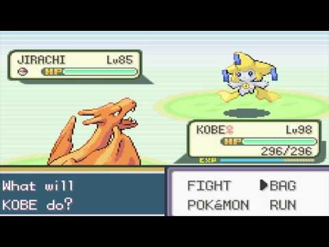 Pokemon Fire Red - Secret Cave Of Viridian City - Jirachi